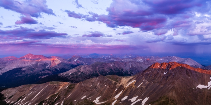 Scaling Colorado's Highest 13er - Grizzly Peak at Sunset